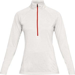 Dámska funkčná mikina Under Armour New Tech 1/2 Zip - Twist Ghost Gray / Radio Red / Metallic Silver - S
