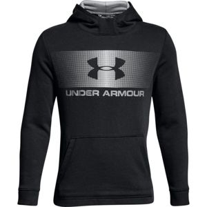 Detská mikina Under Armour Ctn French Terry Hoody BLACK / WHITE / WHITE - YXS