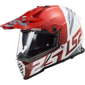Moto prilba LS2 MX436 Pioneer Evo Evolve Red White - M (57-58)
