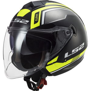 Moto prilba LS2 OF573 Twister II Flix Black H-V Yellow - L (59-60)