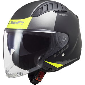 Moto prilba LS2 OF600 Copter Urbane Matt Black H-V Yellow - M (57-58)