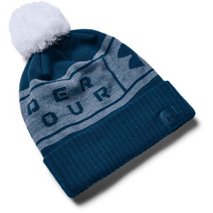 Pánska čiapka Under Armour Big Logo Pom Beanie Graphite Blue - OSFA
