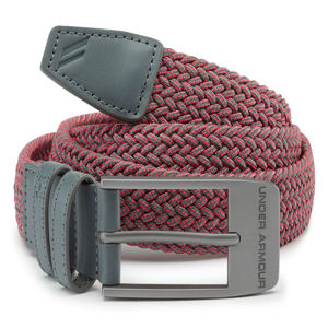 Pánsky opasok Under Armour Men's Braided 2.0 Belt Pitch Gray - 40