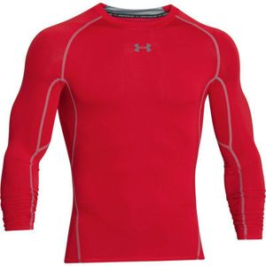 Pánske kompresné tričko Under Armour HG Armour LS Red - XL