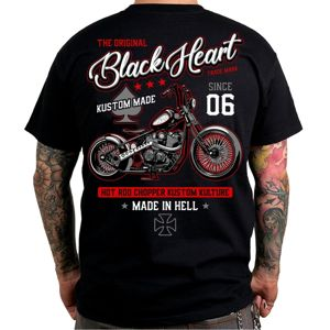 Tričko BLACK HEART Red Chopper čierna - L