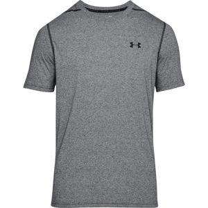 Pánske tričko Under Armour Threadborne Fitted SS Black/Black - XXL