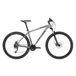 """Horský bicykel KELLYS SPIDER 30 29"""" - model 2020 Grey Orange - S (17'') - Záruka 10 rokov"""