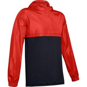 Pánska ľahká bunda Under Armour Wind Anorak Radio Red / Black / Black - M