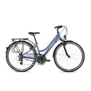"Dámsky trekingový bicykel Kross Trans 2.0 28"" SR - model 2021 modro-biela - S (15"") - Záruka 10 rokov"