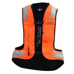 Airbagová vesta Helite Turtle 2 HiVis rozšírená oranžová - XL