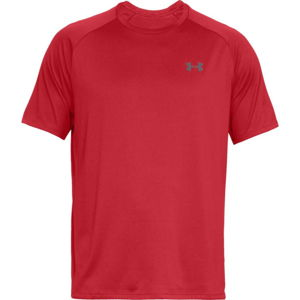 Pánske tričko Under Armour Tech SS Tee 2.0 Red/Graphite - XL