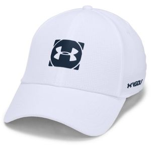 Pánska golfová šiltovka Under Armour Men's Official Tour Cap 3.0 White - M/L (55-58)
